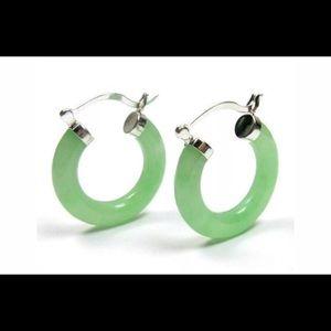 925 Jade Earrings